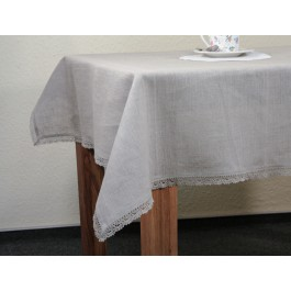 """""""Agne"""" Tablecloth with laces around"""