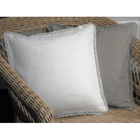 """""""Agne"""" Pillow Cover with laces around"""