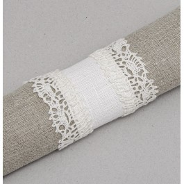 """""""Agne"""" Napkin ring with laces"""