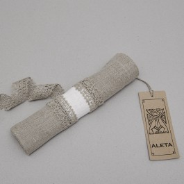 """""""Agne"""" Napkin ring with laces two colors"""