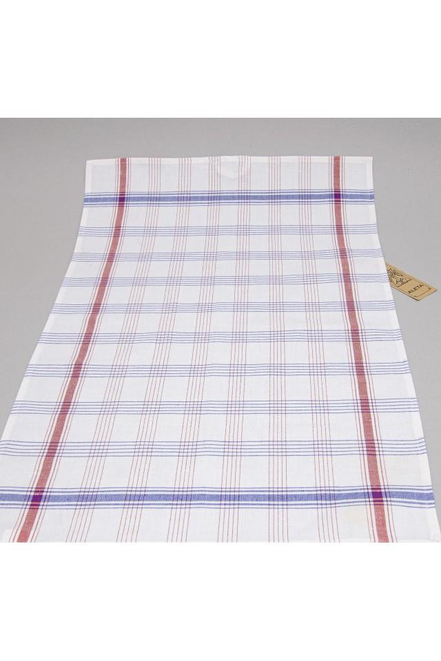 White red blue stripes in frame