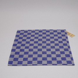 Napkin Checked blue with natural