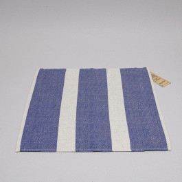 Napkin Herrinbone blue with natural big bands