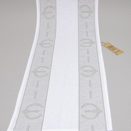 Table runner Crown grey with white