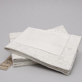 Placemat with 4,5cm border and machine hemstitch in two colours