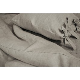 Pillow Cover With Machine Hemstitch And Loops