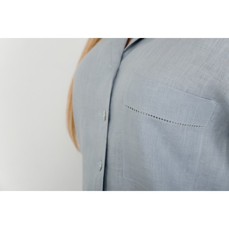 Pyjama for women with machine hemstitch