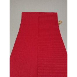 Horizontal red stripes and plain red