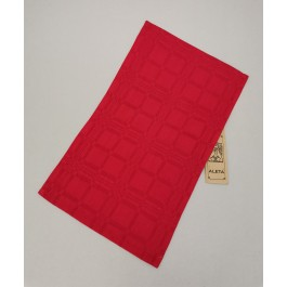 Napkin red with old pattern