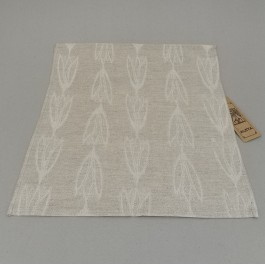 Napkin natural with tulips