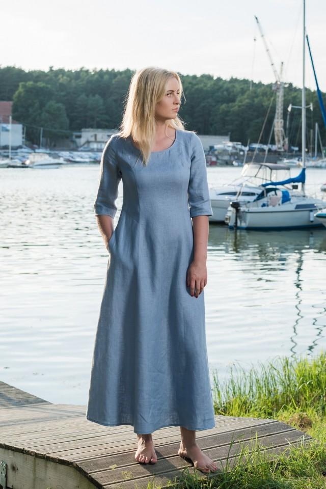Long linen dress BARBI