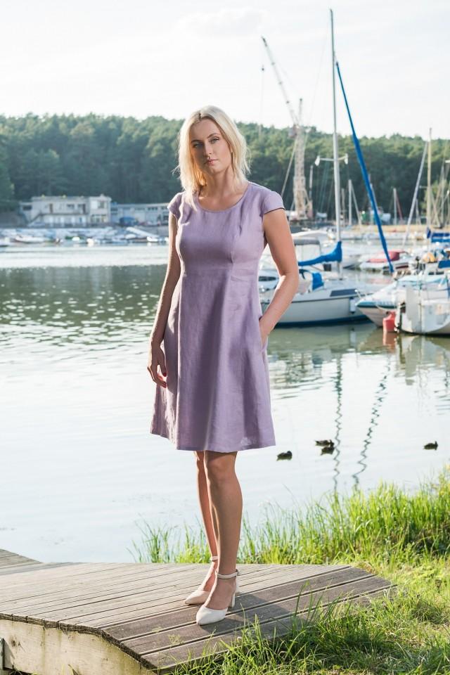 Short linen dress SIGA