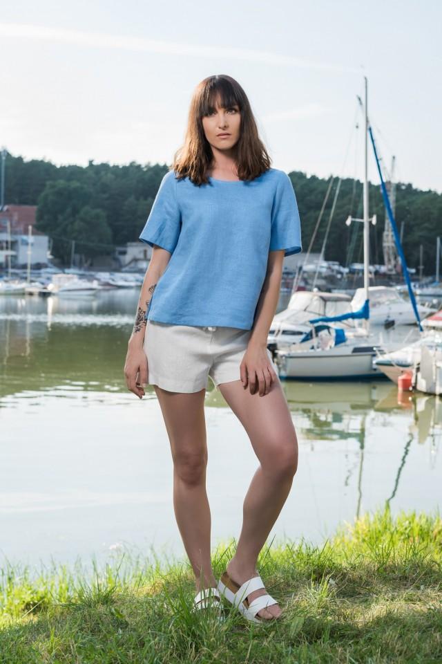 Linen beach shorts DIVULA