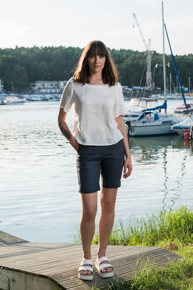 Linen shorts ELKE