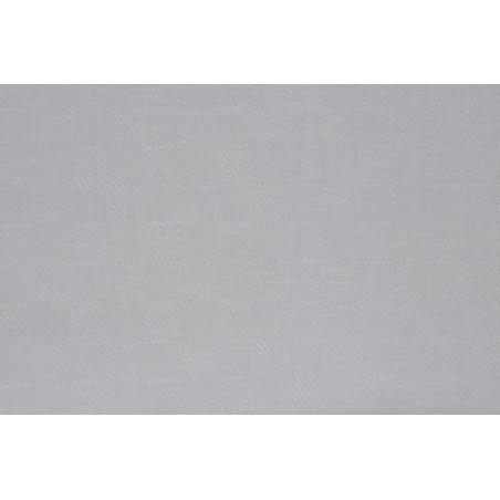 Half-Linen 230g/m² Checked White 150cm width (OBR1495)